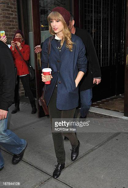 Singer Taylor Swift as seen on December 4 2012 in New York City