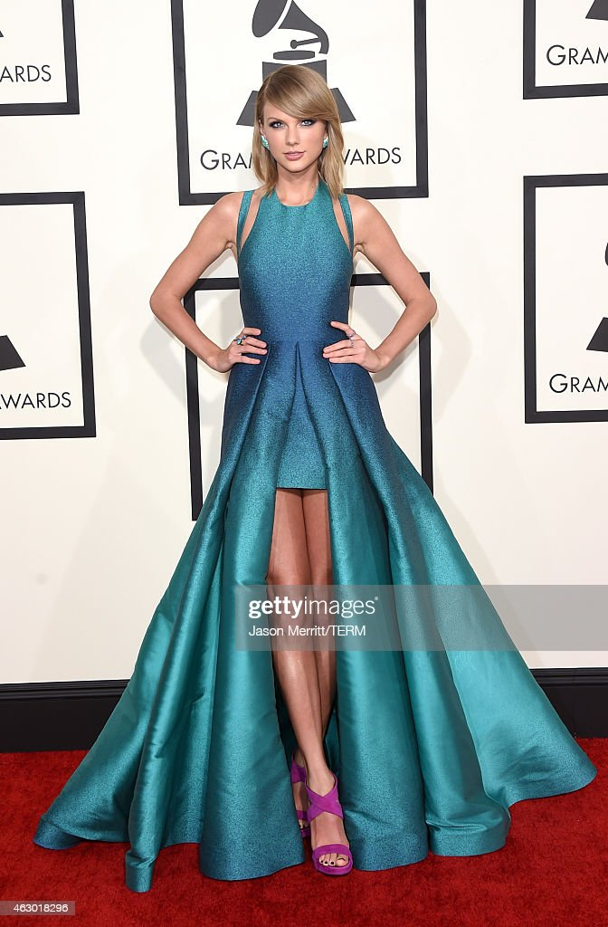 Singer <a gi-track='captionPersonalityLinkClicked' href=/galleries/search?phrase=Taylor+Swift&family=editorial&specificpeople=619504 ng-click='$event.stopPropagation()'>Taylor Swift</a> attends The 57th Annual GRAMMY Awards at the STAPLES Center on February 8, 2015 in Los Angeles, California.