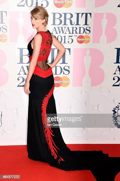 Singer Taylor Swift attends the BRIT Awards 2015 at The O2 Arena on February 25 2015 in London England