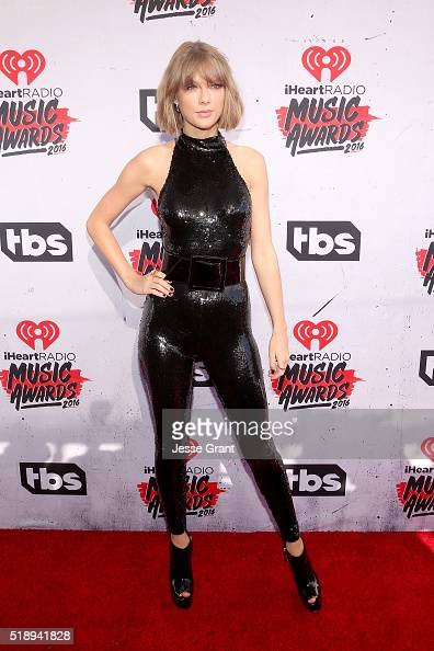 Singer Taylor Swift attends the iHeartRadio Music Awards at The Forum on April 3 2016 in Inglewood California