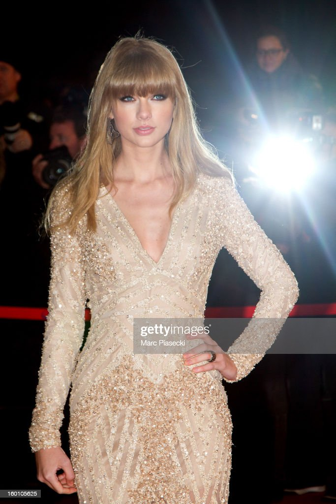 Singer <a gi-track='captionPersonalityLinkClicked' href=/galleries/search?phrase=Taylor+Swift&family=editorial&specificpeople=619504 ng-click='$event.stopPropagation()'>Taylor Swift</a> attends the NRJ Music Awards 2013 at Palais des Festivals on January 26, 2013 in Cannes, France.
