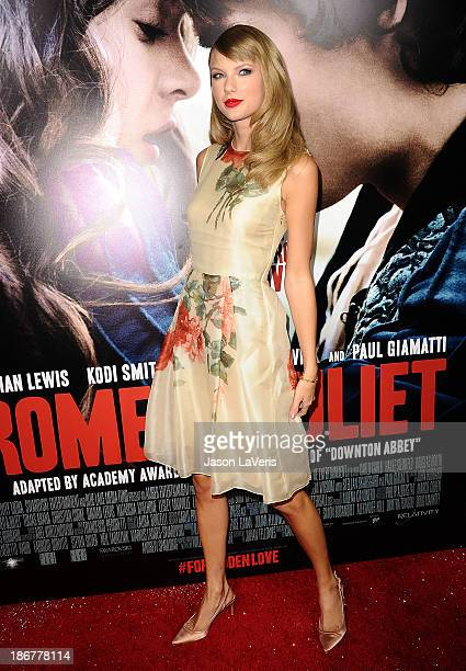 Singer Taylor Swift attends the premiere of 'Romeo And Juliet' at ArcLight Hollywood on September 24 2013 in Hollywood California