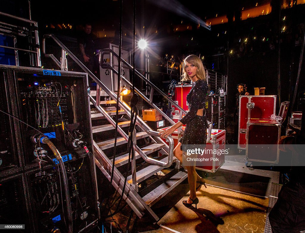 Singer Taylor Swift backstage at KIIS FM's Jingle Ball 2014 powered by LINE at Staples Center on December 5, 2014 in Los Angeles, California.