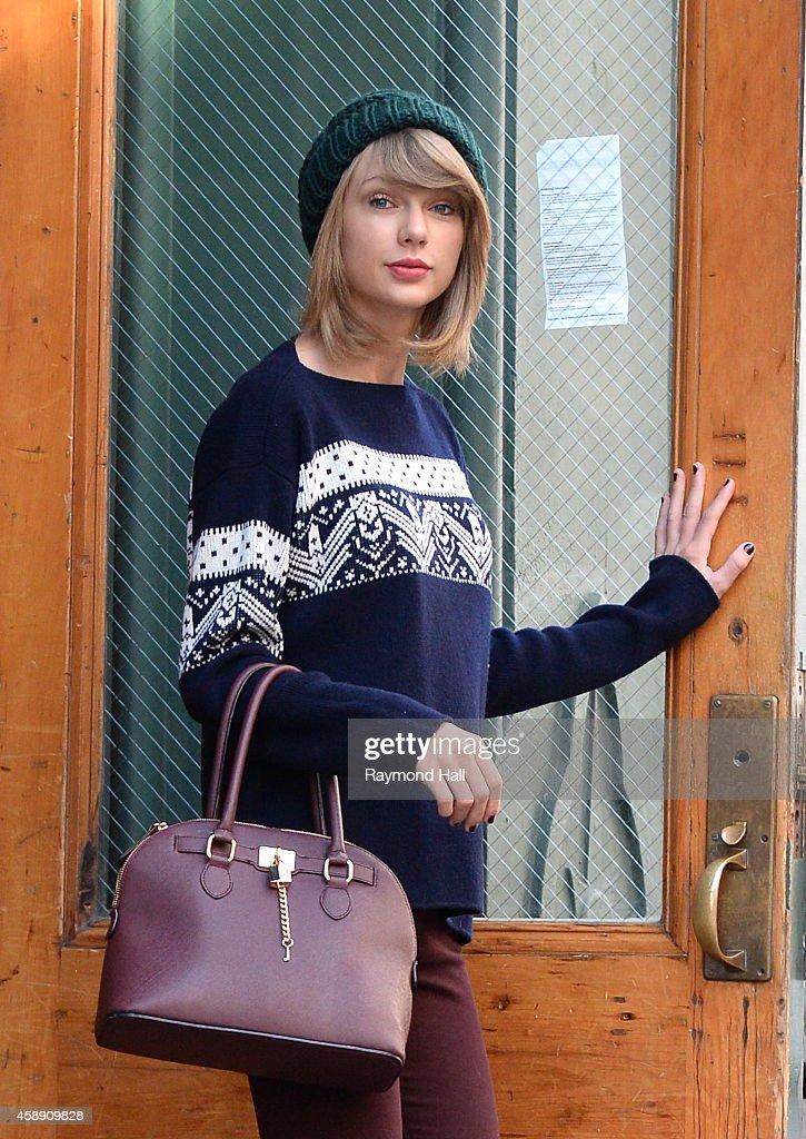 Singer Taylor Swift is seen in Soho on November 13, 2014 in New York City.