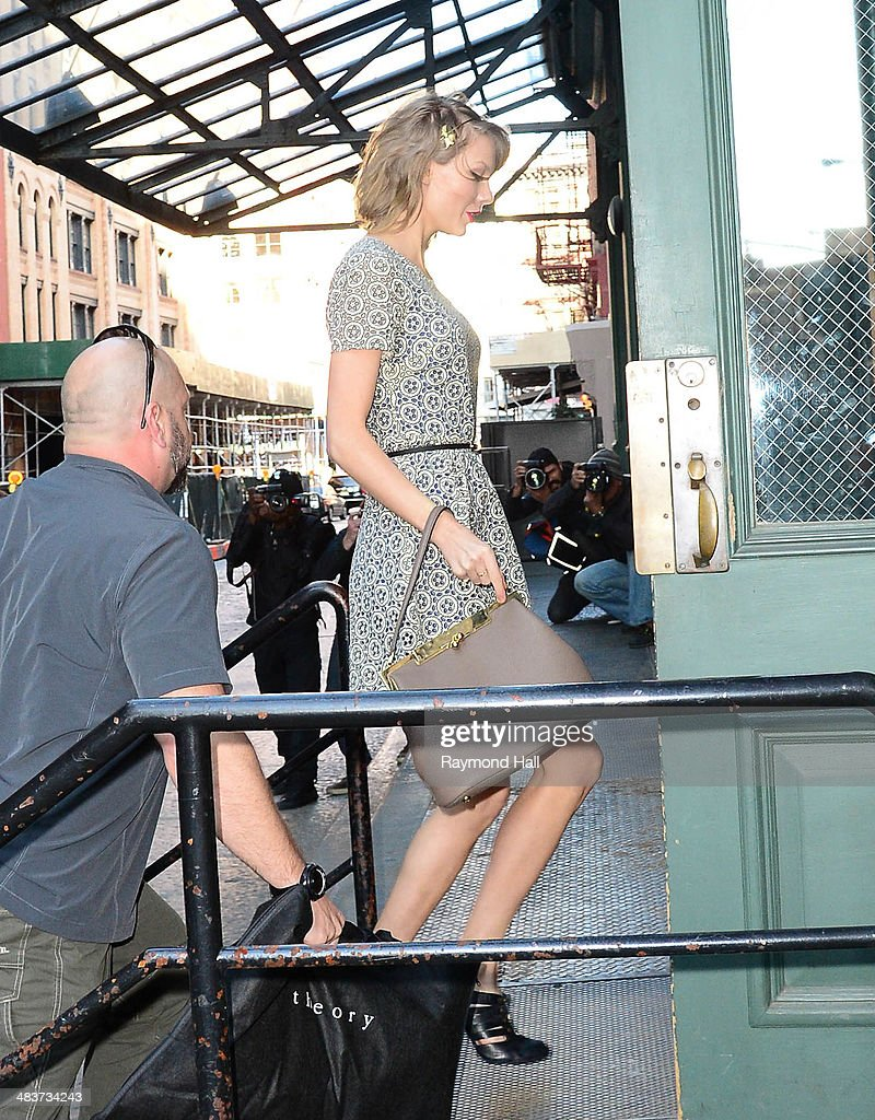 Singer Taylor Swift is seen in the Meatpacking District on April 9, 2014 in New York City.