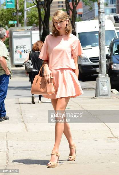 Singer Taylor Swift is seen in Tribeca on July 18 2014 in New York City