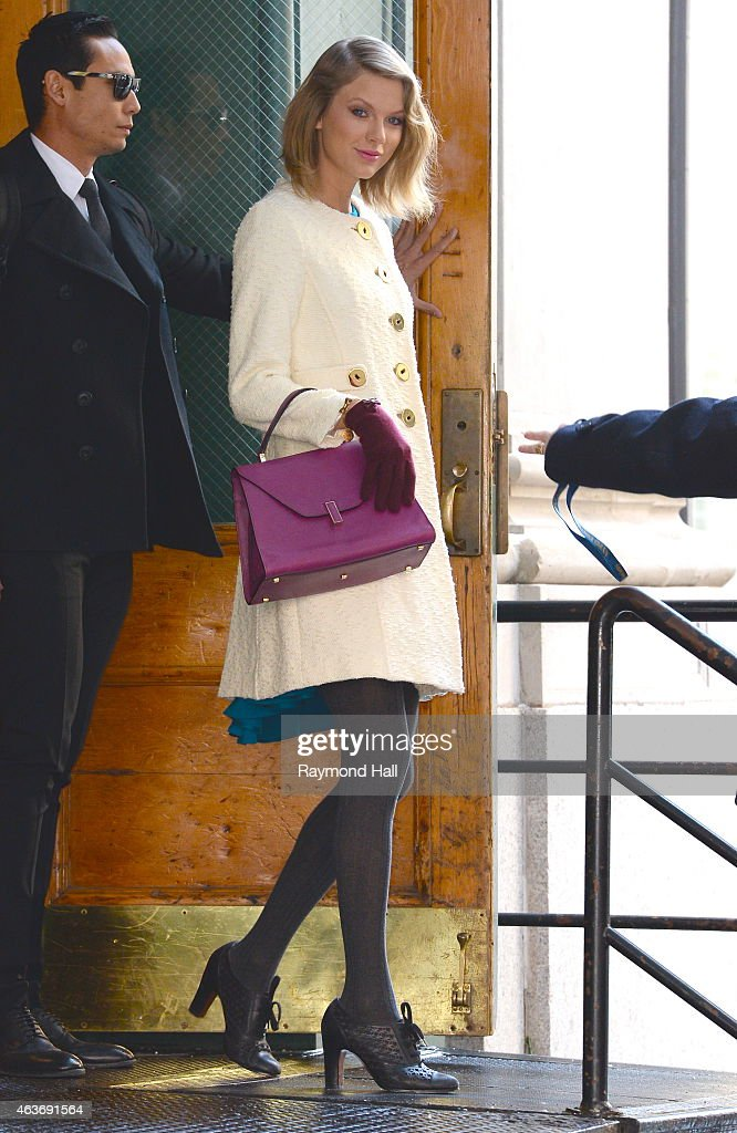 Singer Taylor Swift is seen in Walking in Soho on February 17, 2015 in New York City.