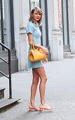 Singer Taylor Swift is seen walking in Soho on April 19 2015 in New York City