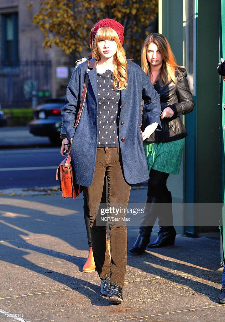 Singer Taylor Swift is sighted on December 4 2012 in New York City