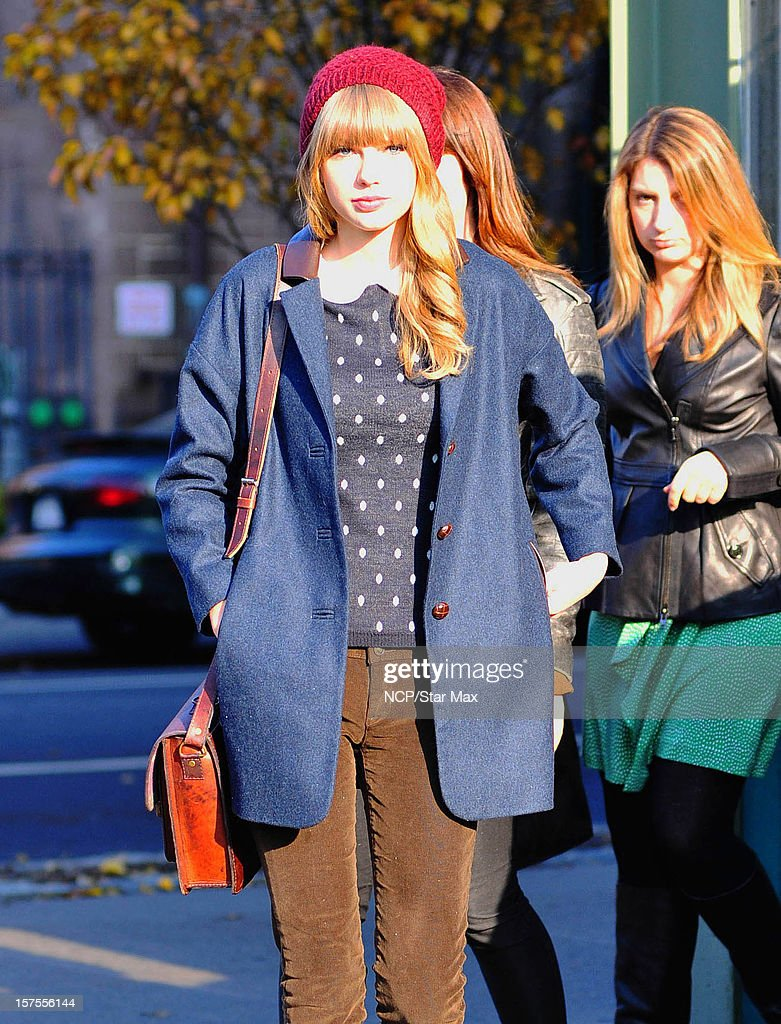 Singer Taylor Swift is sighted on December 4, 2012 in New York City.