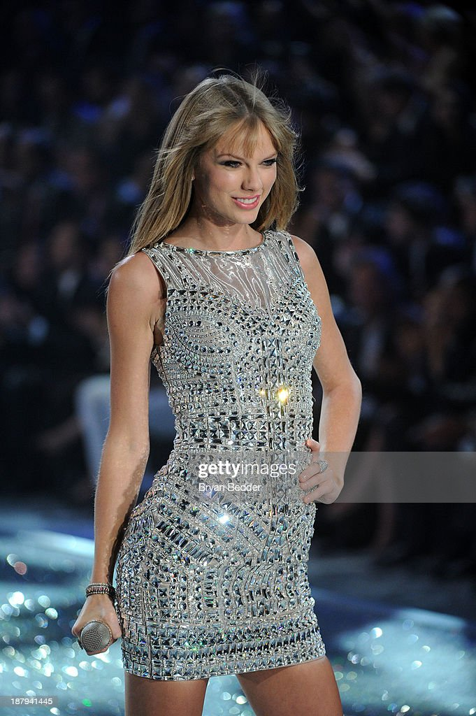 Singer <a gi-track='captionPersonalityLinkClicked' href=/galleries/search?phrase=Taylor+Swift&family=editorial&specificpeople=619504 ng-click='$event.stopPropagation()'>Taylor Swift</a> performs at the 2013 Victoria's Secret Fashion Show at Lexington Avenue Armory on November 13, 2013 in New York City.