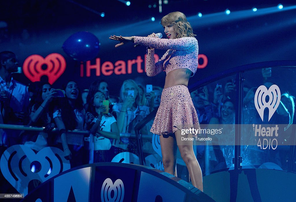 Singer Taylor Swift performs onstage at the 2014 iHeartRadio Music Festival at the MGM Grand Garden Arena on September 19 2014 in Las Vegas Nevada