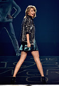 Singer Taylor Swift performs onstage during The 1989 World Tour live in Nashville at Bridgestone Arena on September 25 2015 in Nashville Tennessee