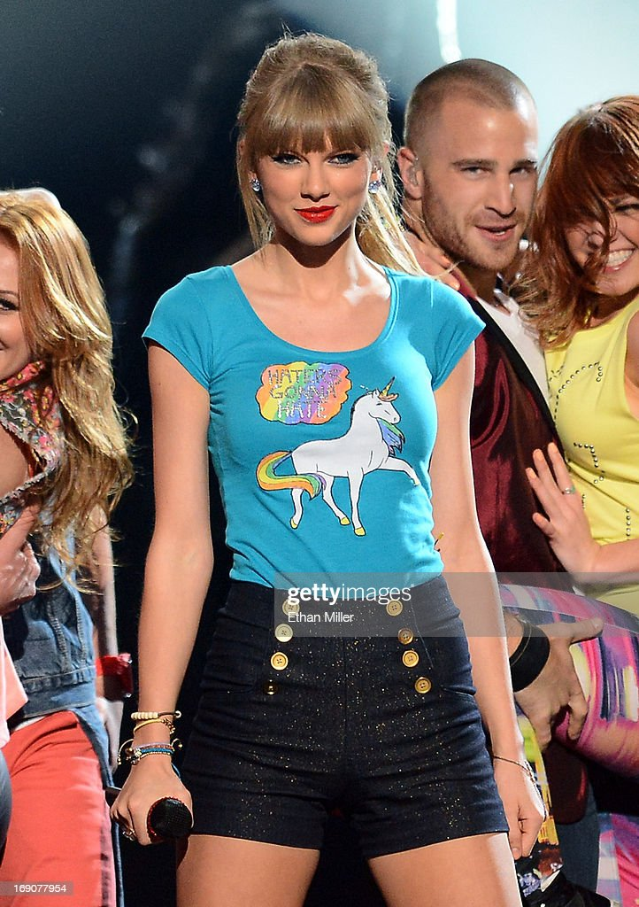 Singer Taylor Swift performs onstage during the 2013 Billboard Music Awards at the MGM Grand Garden Arena on May 19 2013 in Las Vegas Nevada