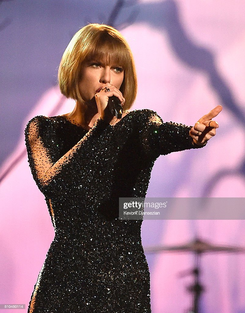 Singer Taylor Swift performs onstage during The 58th GRAMMY Awards at Staples Center on February 15, 2016 in Los Angeles, California.