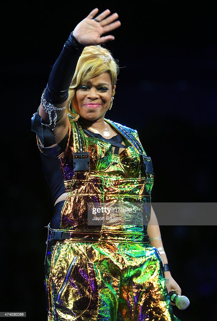 Singer TBoz of TLC performs at Sprint Center on May 19 2015 in Kansas City Missouri
