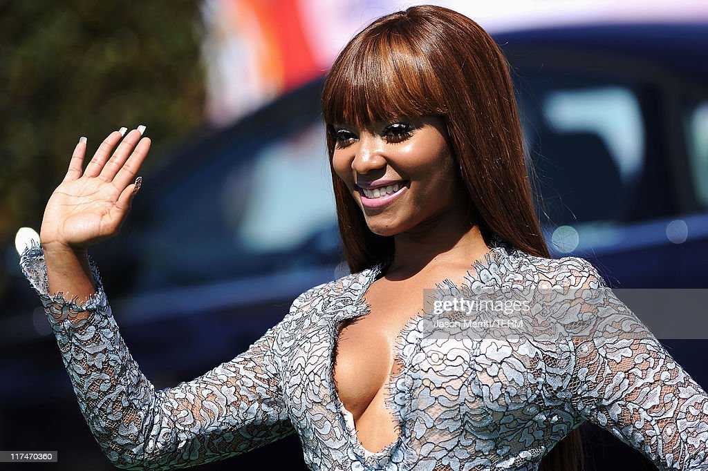 Singer Teairra Mari arrives at the BET Awards '11 held at the Shrine Auditorium on June 26, 2011 in Los Angeles, California.