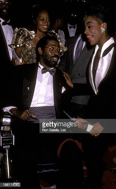 Singer Teddy Pendergrass and wife Karen Pendergrass attend CORE Tribute Honoring Martin Luther King Jr on January 15 1990 at the Sherton Hotel in New...