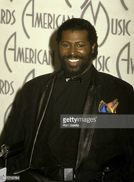 Singer Teddy Pendergrass attends 17th Annual American Music Awards on January 27 1986 at the Shrine Auditorium in Los Angeles California