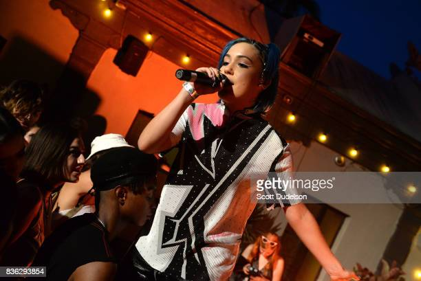Singer Telana Lynum performs onstage during the GIRL CULT Festival at The Fonda Theatre on August 20 2017 in Los Angeles California