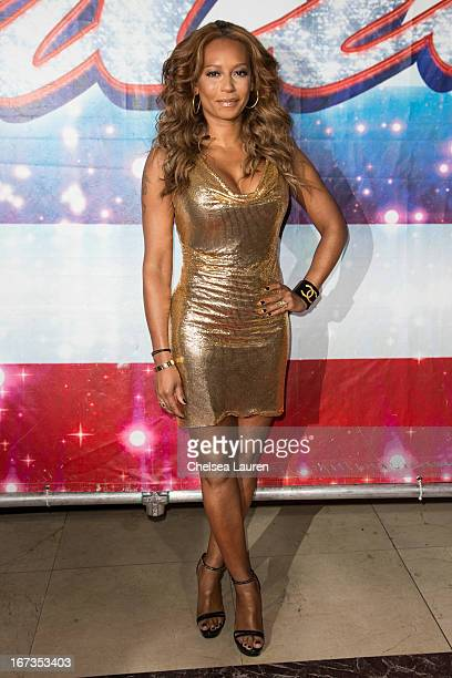 Singer / television personality Melanie 'Mel B' Brown arrives at the 'America's Got Talent' season 8 premiere party at the Pantages Theatre on April...