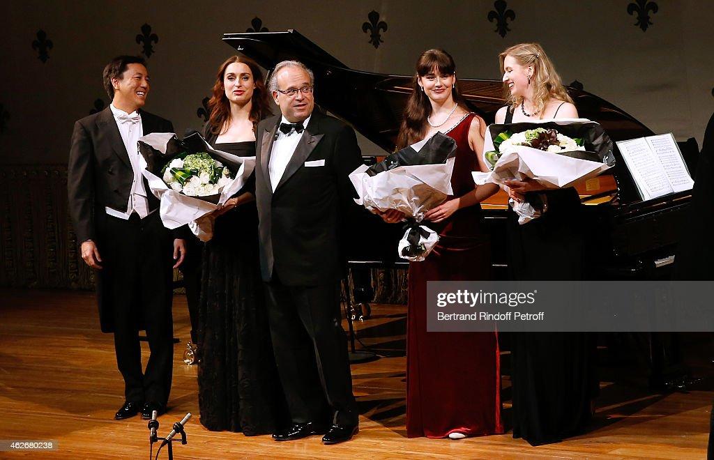 Singer Tenor Philippe Do Singer mezzosoprano Marie Kalinine Professor David Khayat Pianists Anna Hetmanova and Anastasia Pozdniakova perform during...