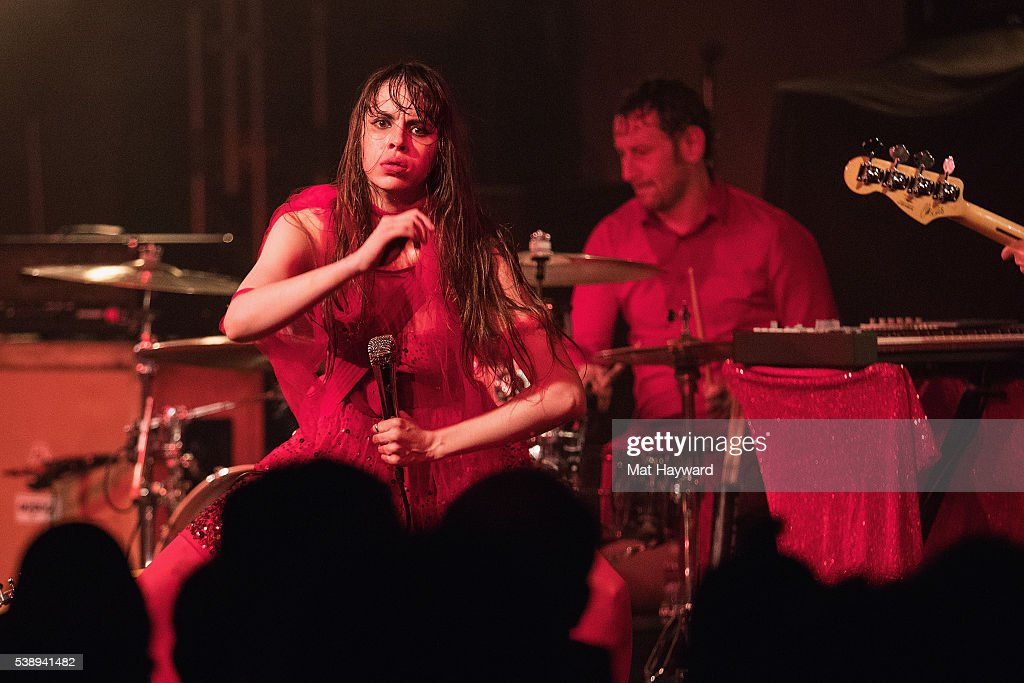 Singer Teri Gender Bender of Le Butcherettes performs on stage at Showbox SoDo on June 8, 2016 in Seattle, Washington.