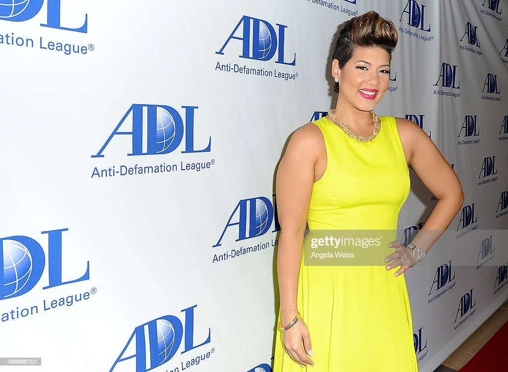 Singer Tessanne Chin arrives at the AntiDefamation League entertainment industry dinner honoring Roma Downey and Mark Burnett at The Beverly Hilton...