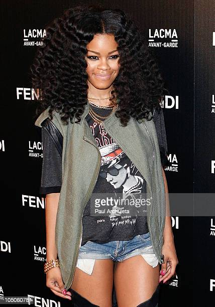 Singer Teyana Taylor attends the FENDI boutique opening at FENDI Beverly Center Boutique on October 7 2010 in Los Angeles California