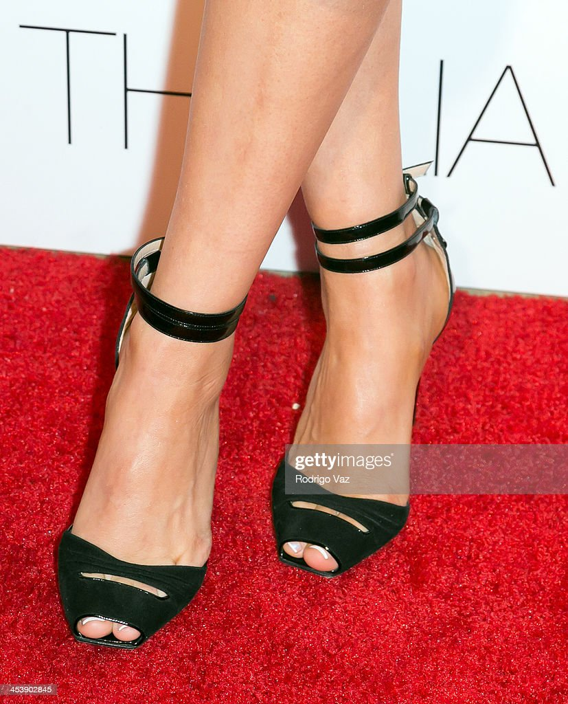 Singer Thalia (shoe detail) arrives as Macy's honors her at Sunset Tower on December 5, 2013 in West Hollywood, California.