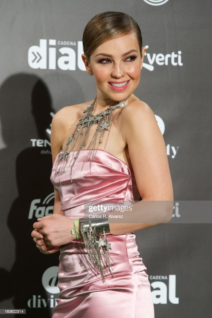 Singer Thalia attends Cadena Dial awards 2013 at the Adan Martin auditorium on March 13, 2013 in Tenerife, Spain.