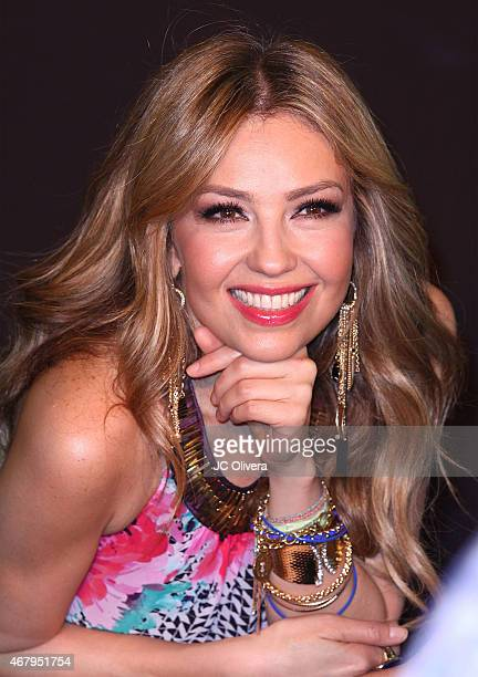 Singer Thalia attends the official launch of The Thalia Collection at Macy's Victoria Gardens on March 28 2015 in Rancho Cucamonga California