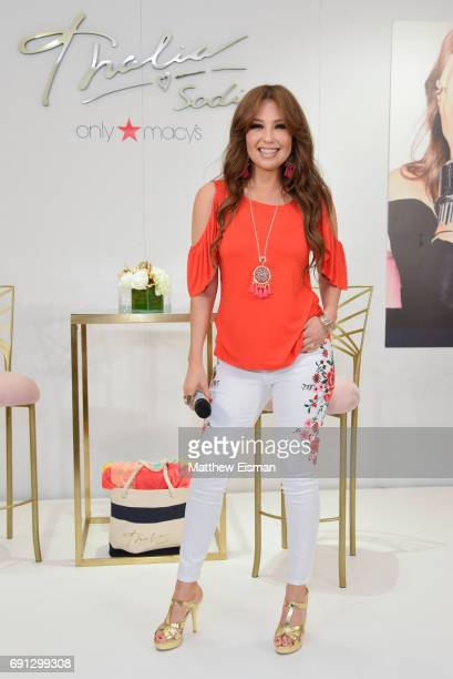 Singer Thalia celebrates the launch of her Thalia Soda collection at Macy's Herald Square on June 1 2017 in New York City