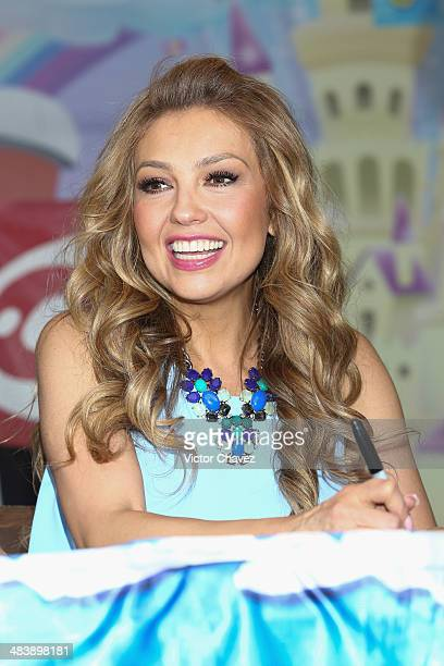Singer Thalia promotes her new album Viva KidsVol 1 at MixUp Cuicuilco on April 10 2014 in Mexico City Mexico