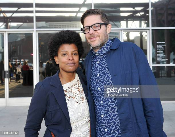 Singer Thalma de Freitas and Josh Kun attend MOCA's Leadership Circle and Members' Opening of 'Carl Andre Sculpture as Place 19582010' and 'Arthur...