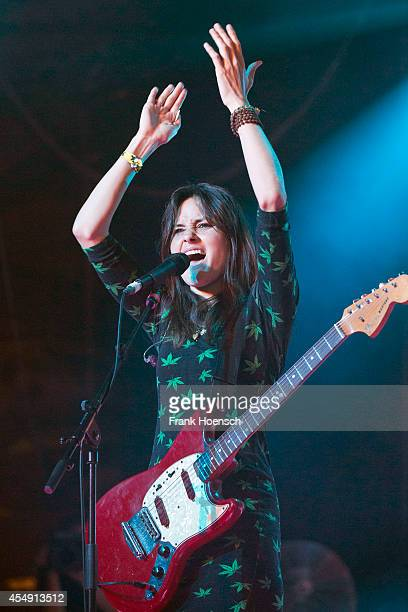 Singer Theresa Wayman of American band Warpaint performs live during Berlin Festival Day 3 at the Arena Treptow on September 7 2014 in Berlin Germany