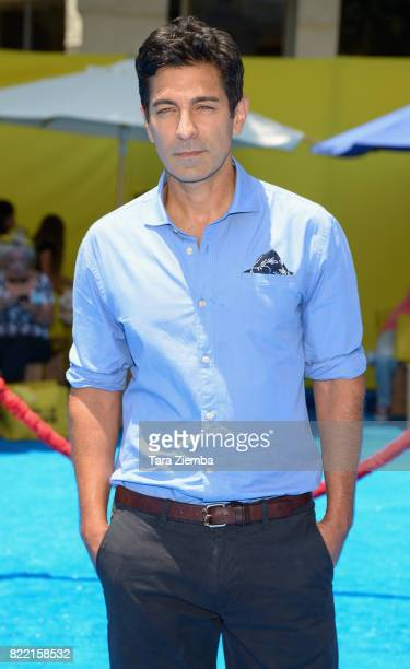 Singer Thom Bishop attends the premiere of Columbia Pictures and Sony Pictures Animation's 'The Emoji Movie' at Regency Village Theatre on July 23...