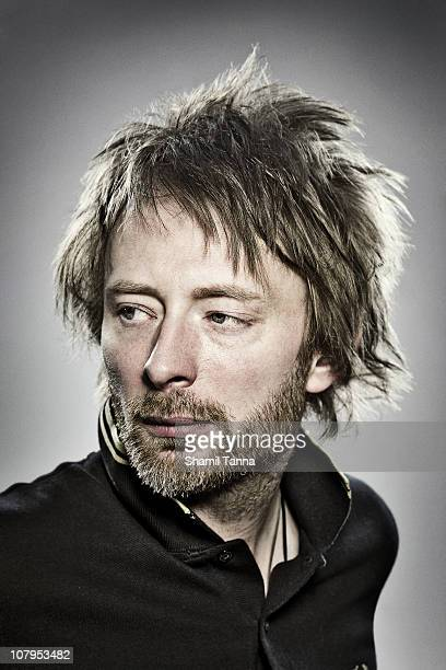 Singer Thom Yorke of Radiohead poses for a portrait shoot in London on April 3 2008