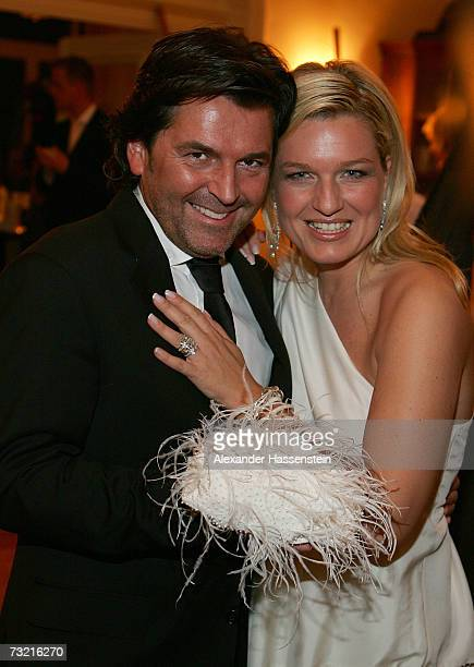 Singer Thomas Anders and his wife Claudia Anders attend the Couple of the Year 2007 Awards at the Hotel Luis C Jacob February 5 2007 in Hamburg...