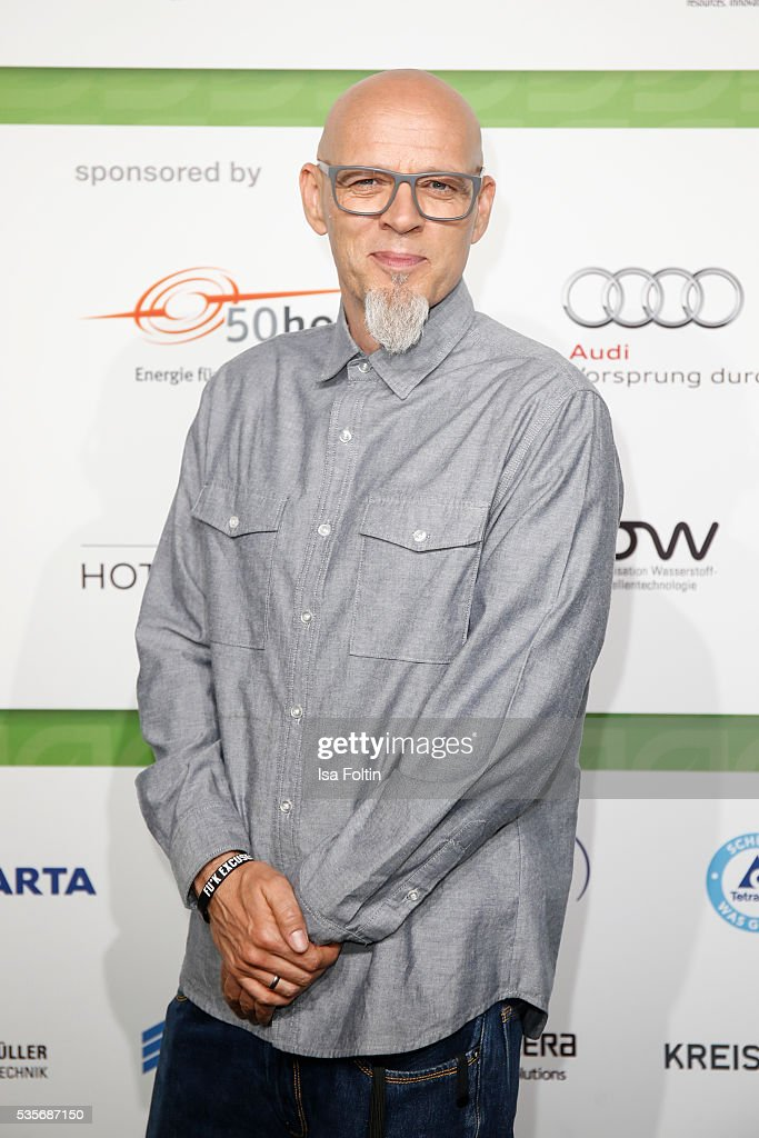 Singer Thomas Duerr alias Hausmeister Thomas D of the band 'Die Fantastischen Vier' attends the Green Tec Award at ICM Munich on May 29, 2016 in Munich, Germany.