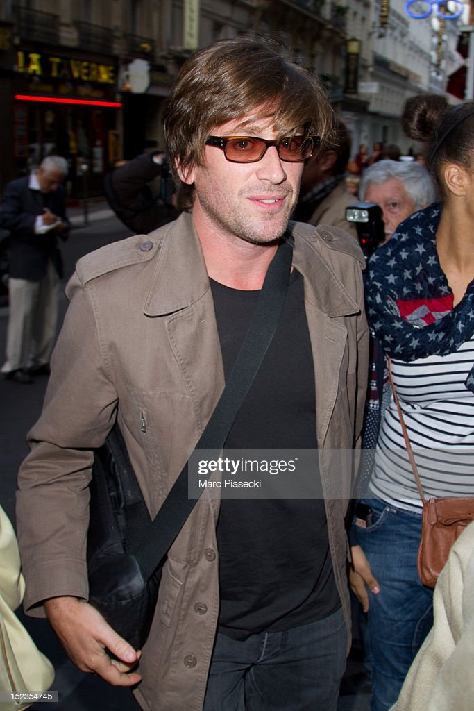 Singer Thomas Dutronc arrives at L'Olympia on September 19 2012 in Paris France