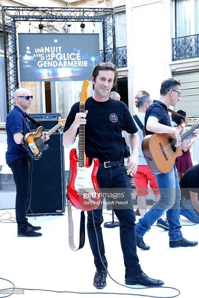 Singer Thomas Dutronc performs during the 'Une Nuit avec la Police et la Gendarmerie' France 2 TV Show Held at Ministere de l'Interieur in Paris on...
