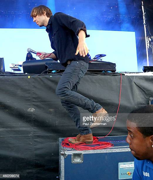 Singer Thomas Mars of Phoenix performs during the 2014 Governors Ball Music Festival at Randall's Island on June 6 2014 in New York City