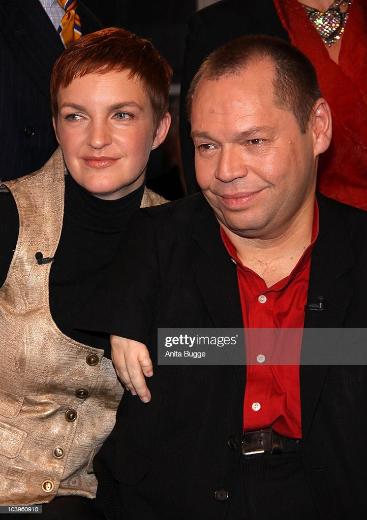 Singer Thomas Quasthoff and his wife Claudia Quasthoff attend the taping of the birthday show for Bassbaritone singer Thomas Quasthoff on October 15, 2009 in Berlin, Germany.