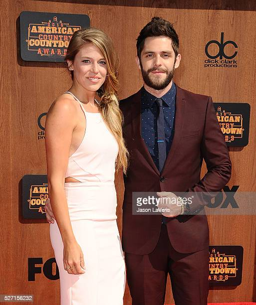 Singer Thomas Rhett and wife Lauren Gregory attend the 2016 American Country Countdown Awards at The Forum on May 01 2016 in Inglewood California