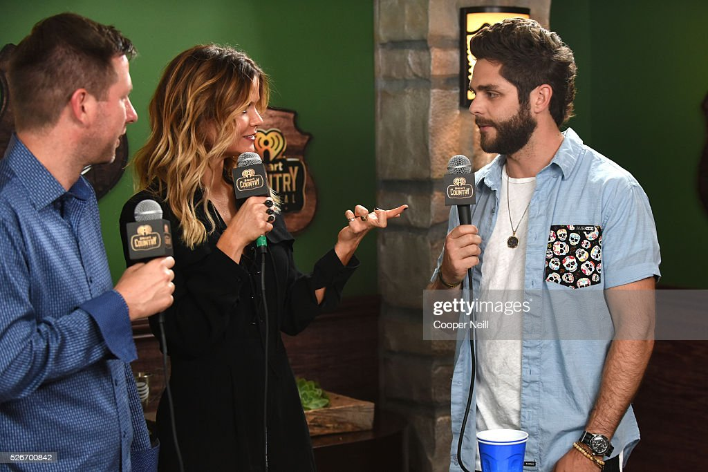 Singer Thomas Rhett (R) attends the 2016 iHeartCountry Festival at The Frank Erwin Center on April 30, 2016 in Austin, Texas.