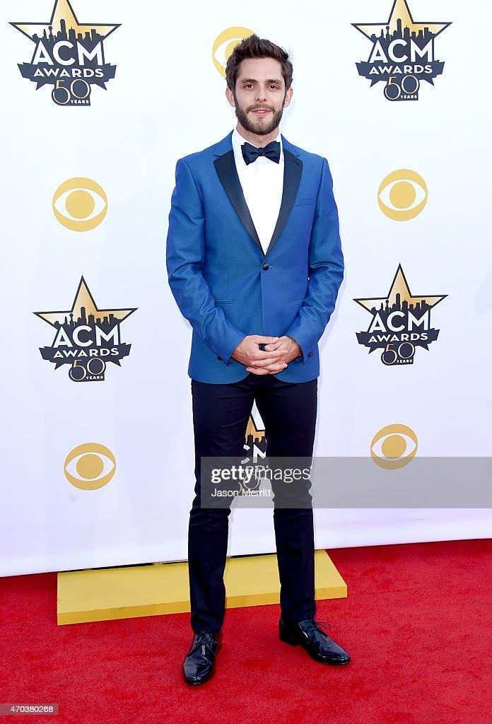 Singer Thomas Rhett attends the 50th Academy of Country Music Awards at ATT Stadium on April 19 2015 in Arlington Texas