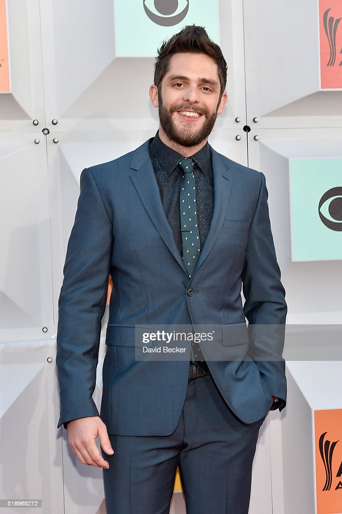 Singer Thomas Rhett attends the 51st Academy of Country Music Awards at MGM Grand Garden Arena on April 3, 2016 in Las Vegas, Nevada.