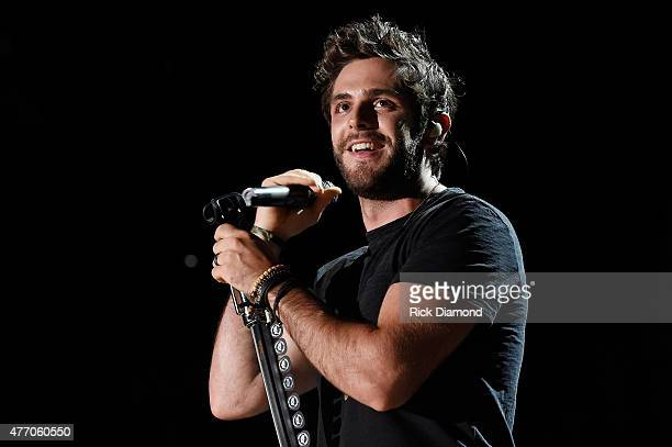 Singer Thomas Rhett performs onstage during the 2015 CMA Festival on June 13 2015 in Nashville Tennessee