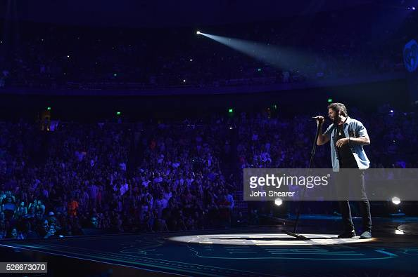 Singer Thomas Rhett performs onstage during the 2016 iHeartCountry Festival at The Frank Erwin Center on April 30 2016 in Austin Texas